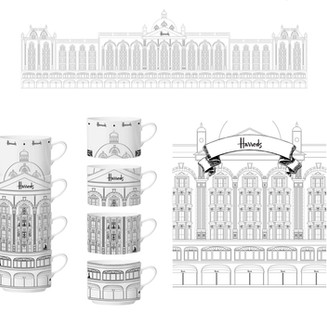 Harrods Signature Building illustration
