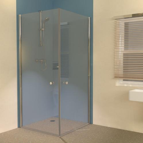 Uniclosure 900x900 hinged wet room shower screens for Wet room shower screen 400mm