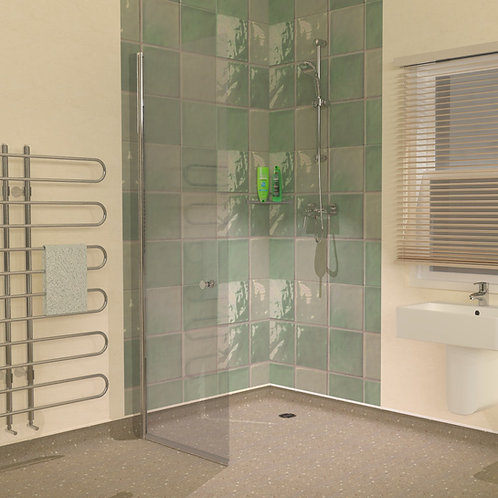 UniClosure 720 Wet Room Vinyl Flooring Screen