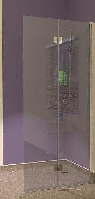 UniClosure 950 Folding Wet Room Vinyl Floor Screen