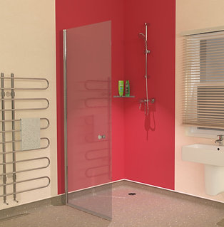 UniClosure 820 Wet Room Vinyl Flooring Screen