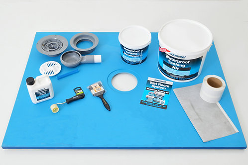 Line 800x800 Wet Room Tray Kit for Vinyl Flooring