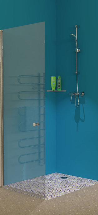 UniClosure 800 Hinged Wet Room Screen