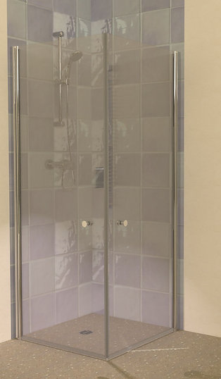 UniClosure 800x800 Hinged Wet Room Shower Screens Enclosure