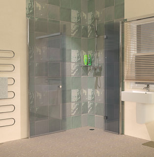 UniClosure 1400x900 Hinged Wet Room Foldaway Screens Enclosure