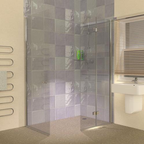 UniClosure 1300x800 Hinged Wet Room Foldaway Screens Enclosure