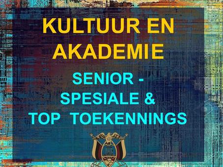 PRYSUITDELING 2019 -KULTUUR EN AKADEMIE