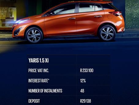 Nog 'n uitstekende aanbieding op Toyota Yaris van East Rand Toyota: