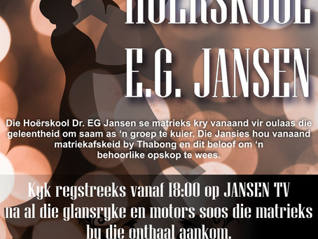 MATRIEKAFSKEID REGSTREEKS OP JANSENTV!
