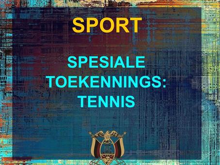 PRYSUITDELING 2019 -SPORT - TENNIS