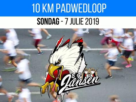10Km Padwedloop - Sondag, 7 Julie 2019