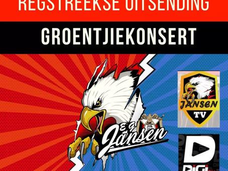 Regstreeks: Groentjiekonsert op Jansen TV!