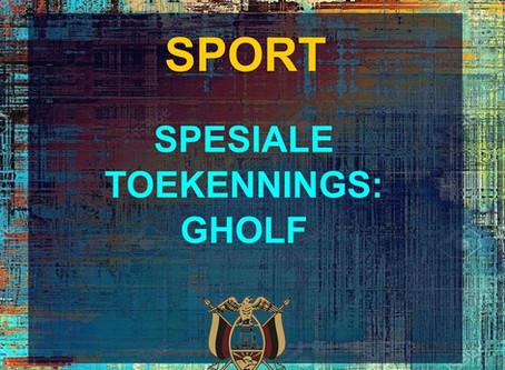 PRYSUITDELING 2019 -SPORT - GHOLF