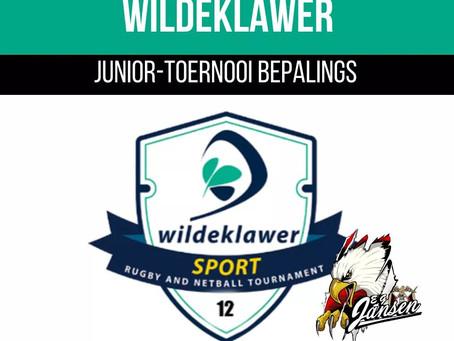 Wildeklawer Junior-toernooi Bepalings vir 2020