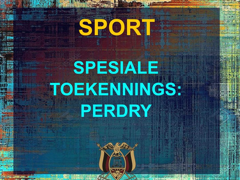 PRYSUITDELING 2019 -SPORT - PERDRY