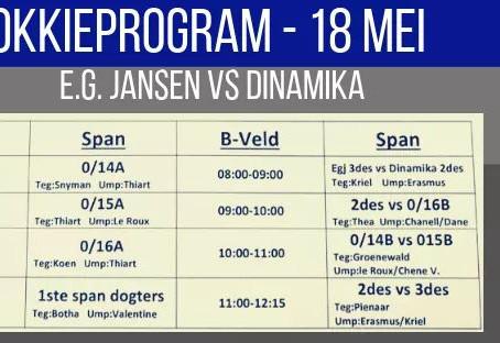 Hokkieprogram: E.G. Jansen vs Dinamika