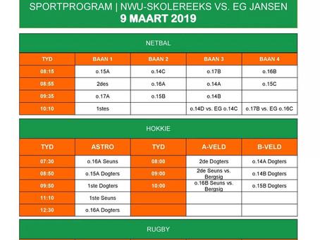 Sportprogram: NWU-Skolereeks