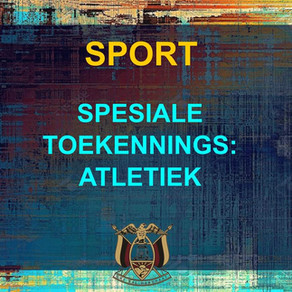 PRYSUITDELING 2019 -SPORT - ATLETIEK
