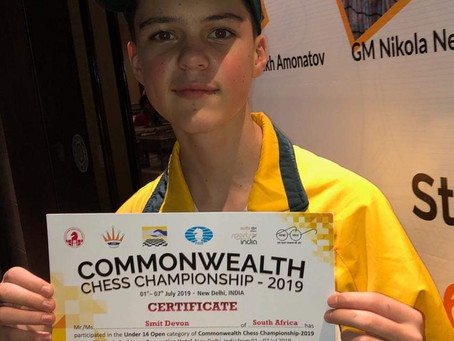Devon eindig 5e in Commonwealth Games / Statebondspele!
