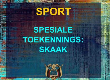 PRYSUITDELING 2019 -SPORT - SKAAK