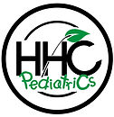 Pediatric Logo Black & Green-Leaf Tilted