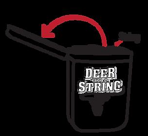using deer on a string