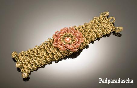 Petalicious Cuff in Padparadascha
