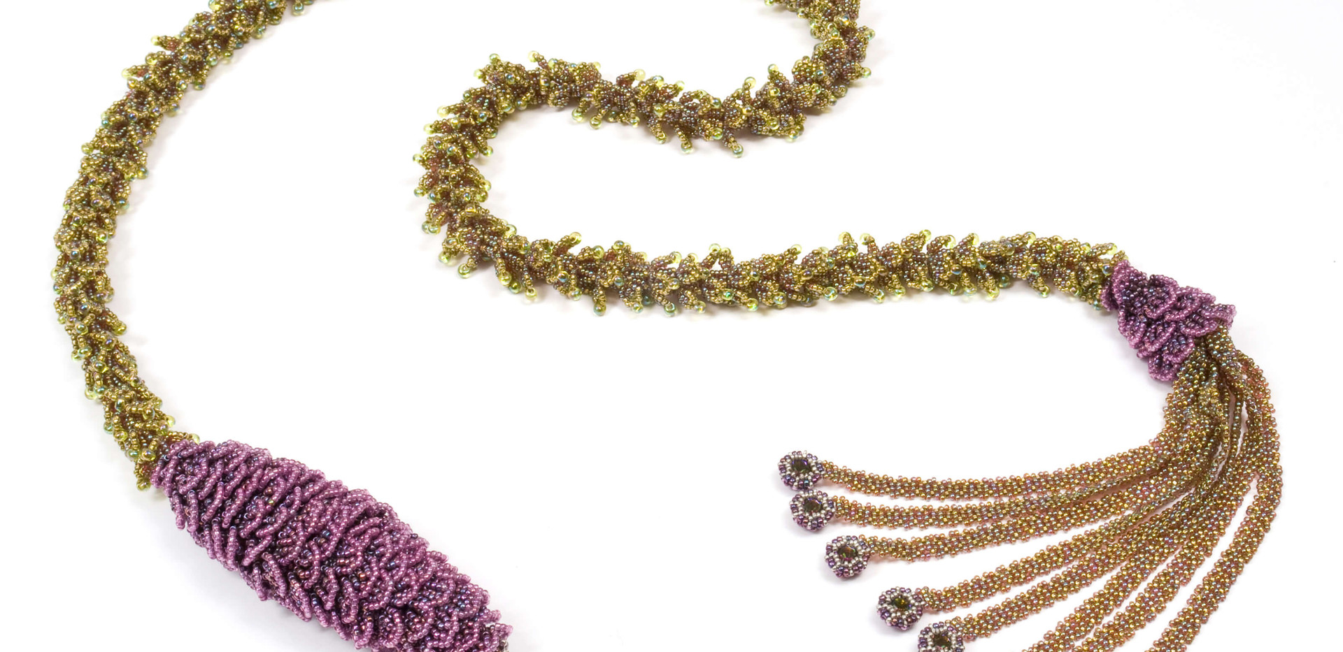 Pining Over You Lariat in Olive and Amethyst