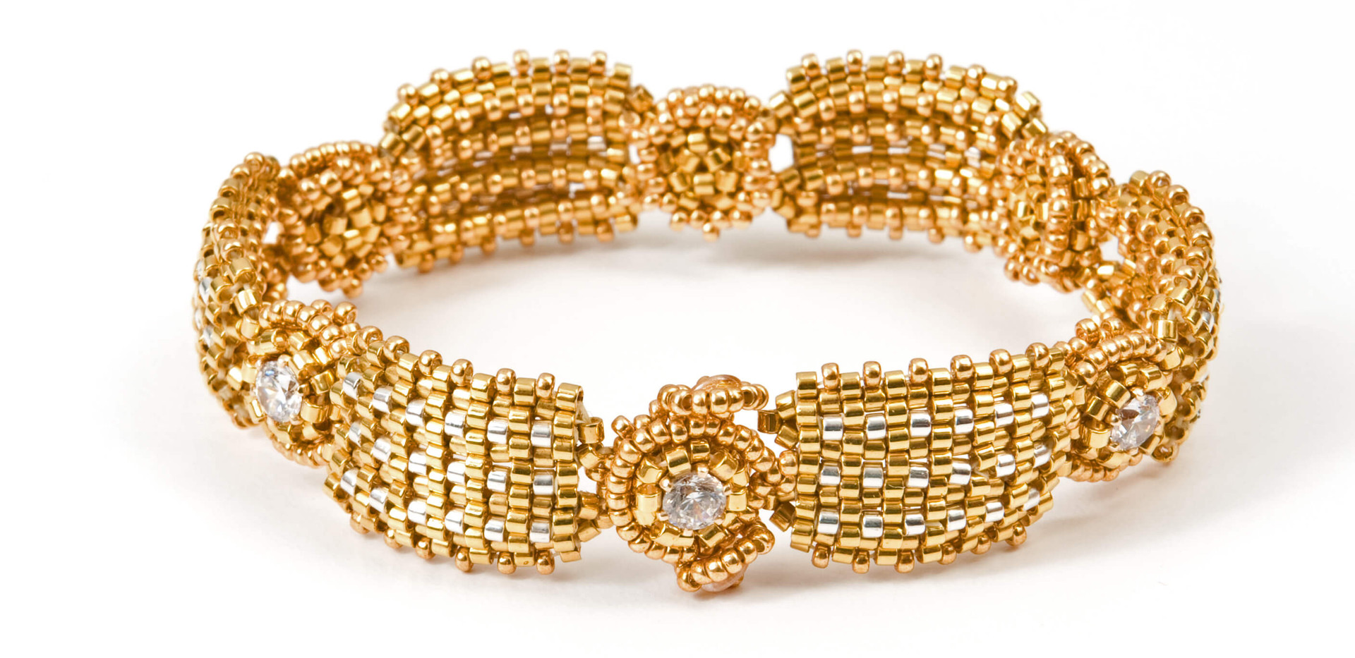 Ribbed Cuff in Gold