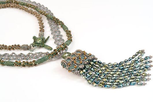 Back On The Chain Gang Necklace - Sage