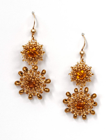 Swinging Starlets Earrings in Topaz and Gold