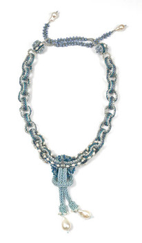 Labyrinth Necklace by Melanie Potter in Blue & Silver