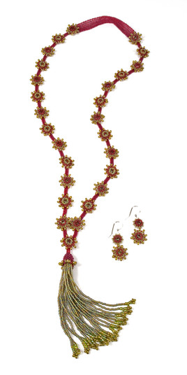 Swinging Starlets in Raspberry & Olivine