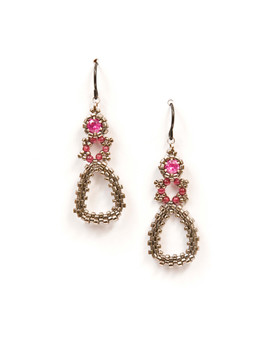 Dew Drops Earrings in Nickel