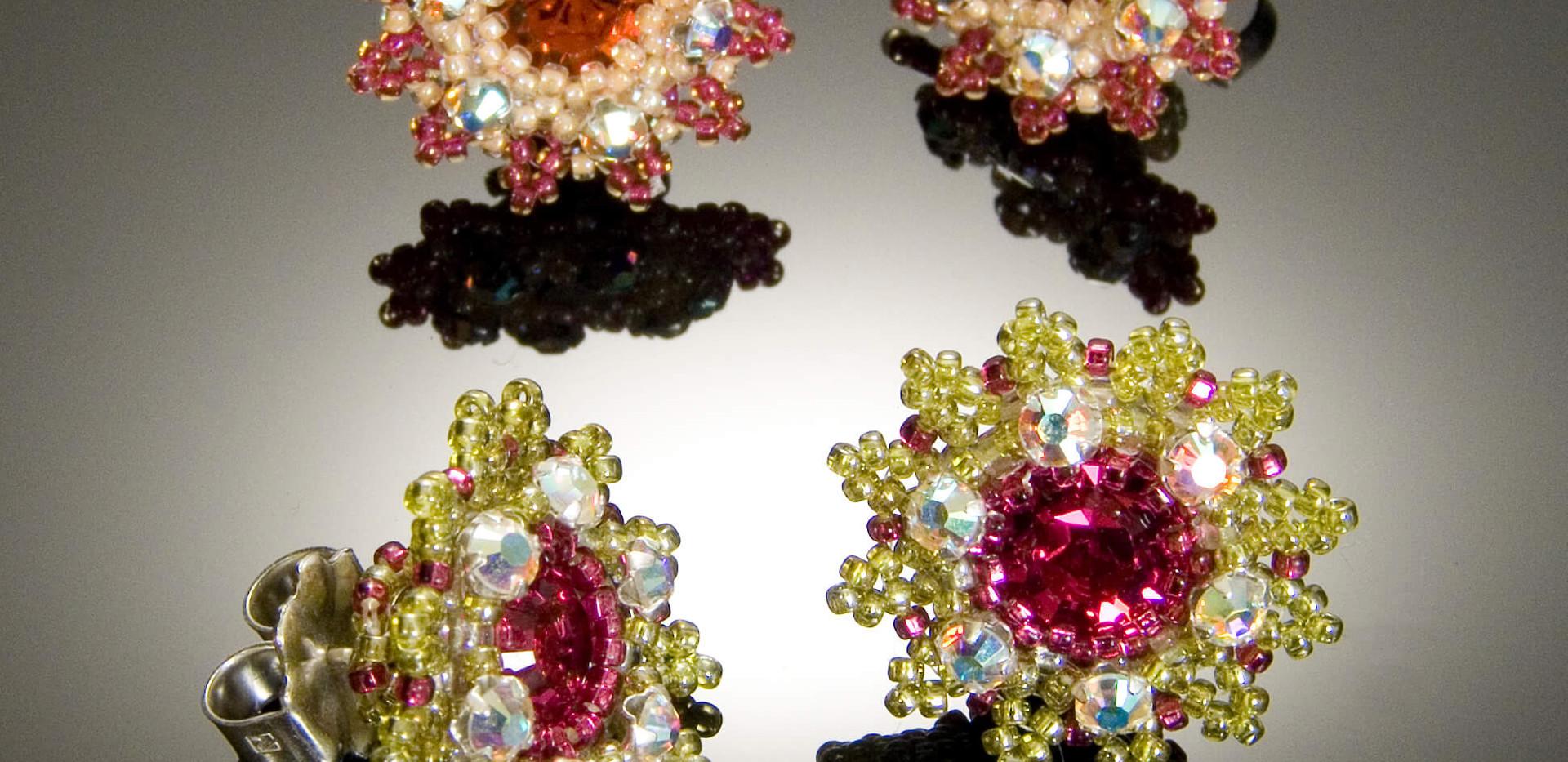 Flower Motif Earrings