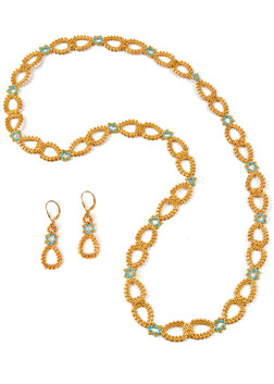 Dew Drops Link Necklace and Earrings