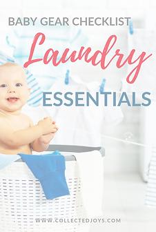 Baby Gear Checklist Laundry Essentials (