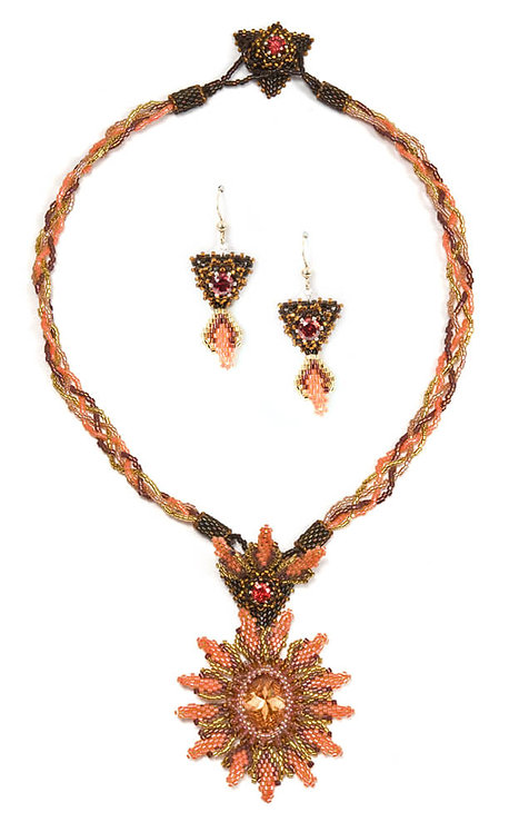 Flame D' Amore Necklace and Earrings