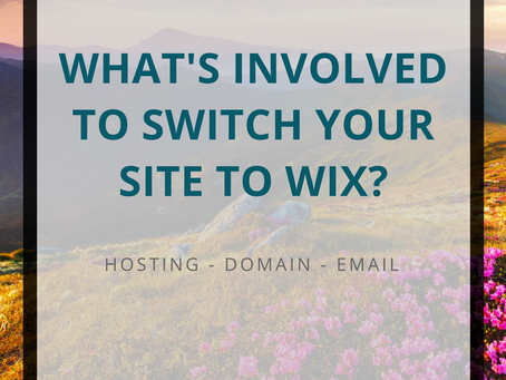 What's involved to switch to Wix?