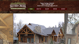 Pagosa Springs contactor's website designed by Up North Design