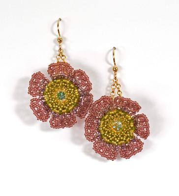 Wildflower Earrings in Jonquil AB