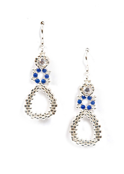 Dew Drops Earrings in Silver