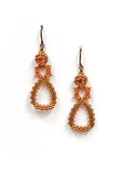 Dew Drops Earrings in Bronze