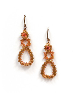 Dew Drops Earrings in Bronze