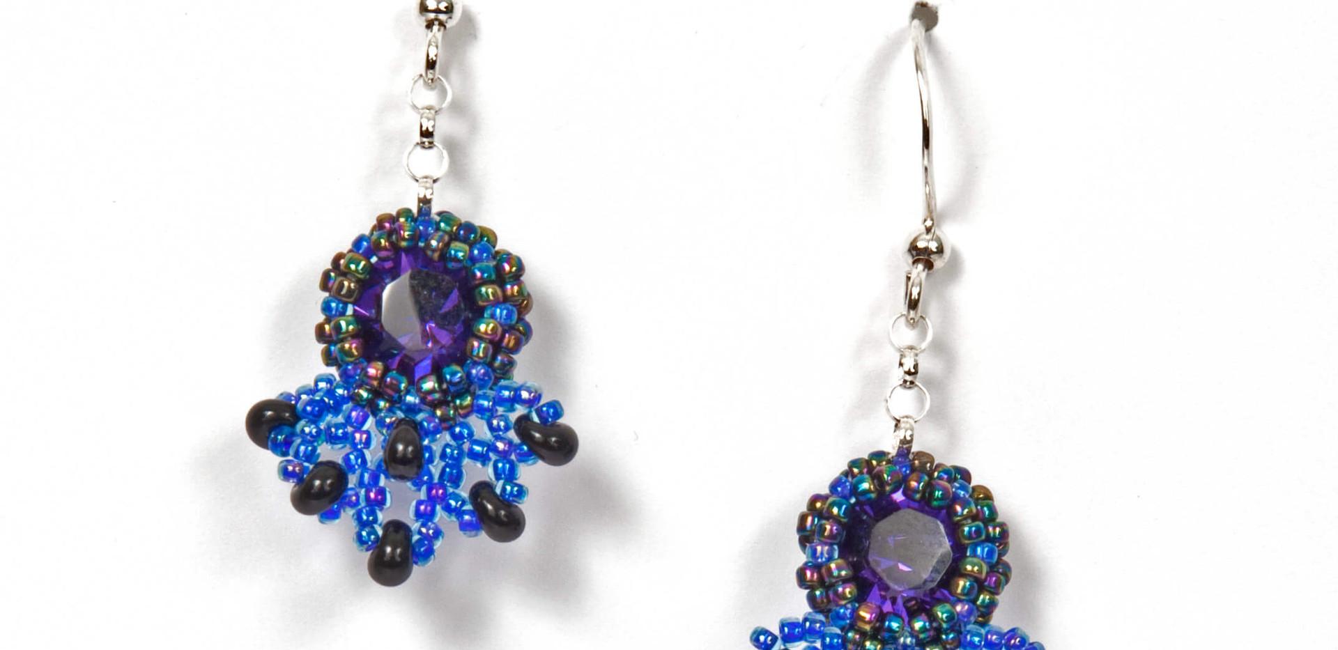 Blue & Onyx Earrings