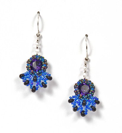 Blue & Onyx Earrings