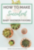 How to make Succulent Baby Shower Favors