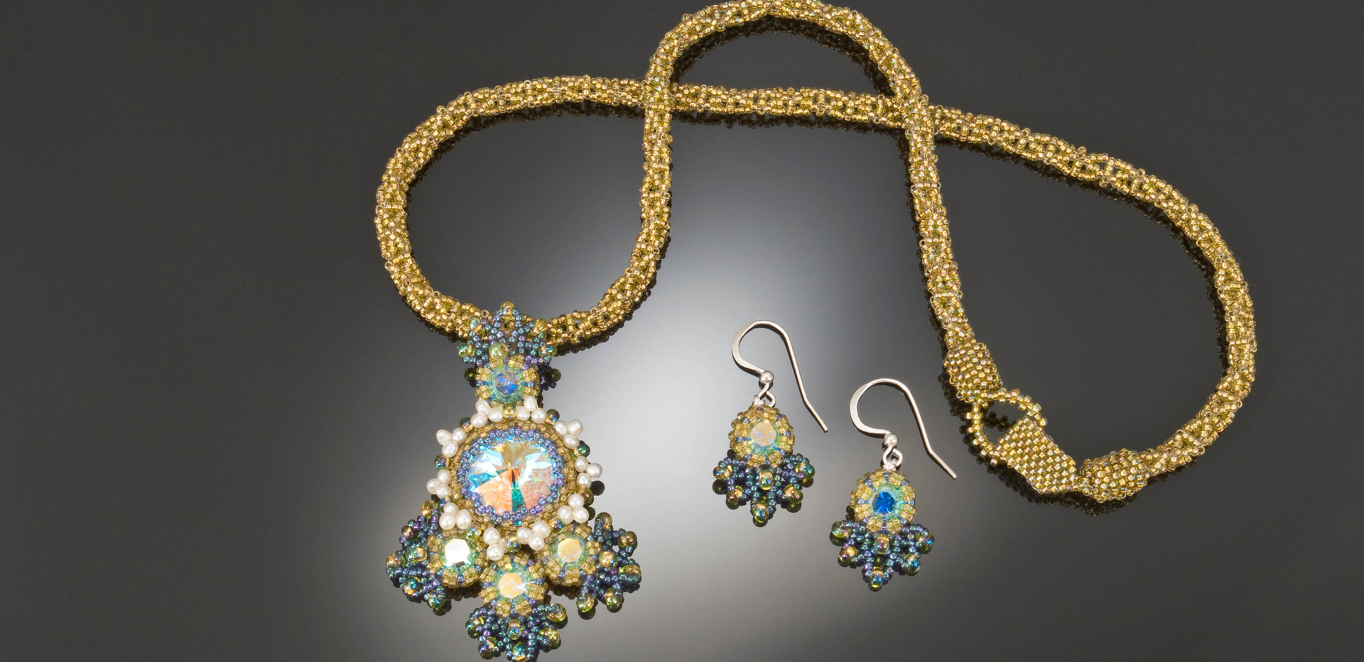 Go For Baroque Necklace and Earrings