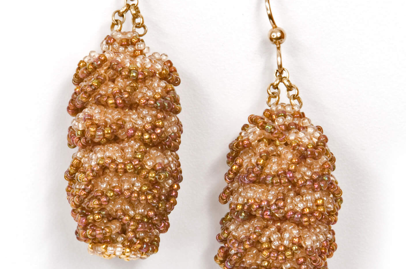 Pining Earrings in Topaz and Peach
