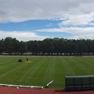 Women's soccer field on University of Wyoming campus in Laramie, Wyoming